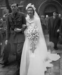 April 1941. Andrew Cavendish and Deborah Mitford on their wedding day