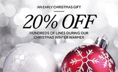 We have an early #Christmas gift for everyone today, our Winter Warmer sale is LIVE! Up to 20% off products until midnight Friday (18th), so grab those last minute bargain gifts or treat yourself!