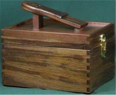 American Walnut Shoe Shine Box