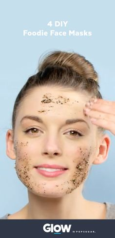 How to make four essential face masks in your own kitchen. Make a glowing mask, acne fighting mask, moisturizing mask, and cleansing mask with natural products! #naturalbeauty