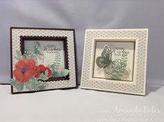 The Craft Spa - Stampin' Up! UK independent demonstrator : Timeless Elegance Shadow Box Frame Card