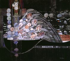 "Hunterian Art Gallery Mackintosh collections: ""La Mort Parfumee"" 1921  (watercolour)CREMACKINTOSH, Margaret Macdonald; (English; 1864-1933)pencil, watercolour, gouache and gold paint on paper 63.0 x 71.2"
