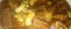Pečený guláš s houbami