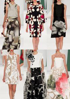 New York Womenswear Print Highlights Part 1 – Spring/Summer 2015 catwalks -- Carolina Herrera S/S15