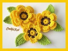 crochet flowers, crochet and flowers. / crochet ideas and tips ...