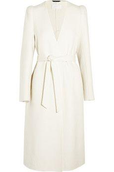 Maison Margiela Belted felted cashmere coat | THE OUTNET