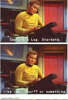 Star Trek: Captain's Log Watch Star Trek, Star Trek Tos, Star Wars, Enterprise Ncc 1701, Star Trek Original, Across The Universe, I Laughed, Nerdy, At Least