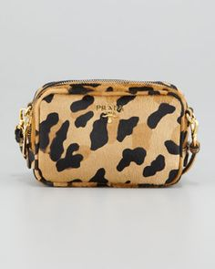 Leopard-Print Mini Crossbody Bag by Prada at Bergdorf Goodman. Glamour 371a22debb2c2