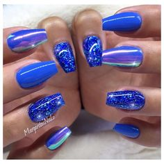 100 Beautiful blue Nail Art Designs 2018 - Reny styles
