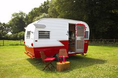 Vintage caravans lead the field in stylish summer camping. These images from the book My Cool Caravan celebrate their comeback Retro Travel Trailers, Vintage Campers Trailers, Retro Campers, Camper Trailers, Happy Campers, Retro Rv, Tiny Trailers, Classic Campers, Classic Trailers