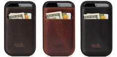 iPhone Leather Wallet Case by Pack & Smooch http://coolpile.com/gear-magazine/iphone-leather-wallet-case-by-pack-smooch/ via CoolPile.com - $72.86 -   Cool, Gifts For Her, Gifts For Him, iPhone, iPhone Case, Leather, Wallets
