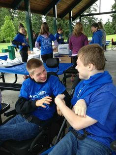 Nathan & friend at 2013 Angelman walk, Seattle, WA. Angelman Syndrome, Wa Usa, Special Needs, Things To Think About, Seattle