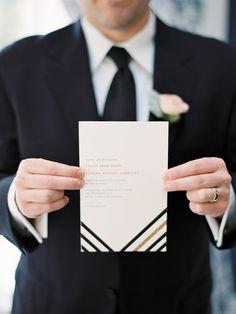 Glitter Striped Wedding invitation by Blush Printables