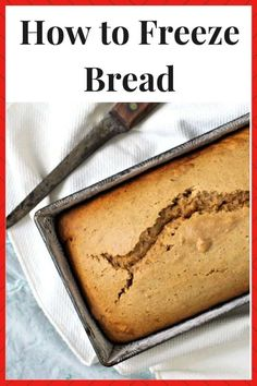 Save a ton of money and time by learning how to freeze bread! Freezing bread is a great way to make use of sales and extra bread before it goes bad! Make Ahead Meals, Freezer Meals, Easy Meals, Freezing Bread, How To Freeze Bread, Fall Recipes, Holiday Recipes, Budget Meals, Budget Recipes