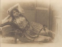 Early 1900s Turkish Real Harem Belly Dancer Dreamy Portrait with Hookah Smoking Pipe Original Rare Postcard Used in Constantinople in 1902