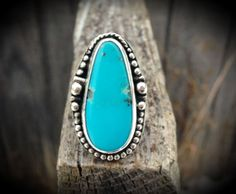 Campitos Turquoise Ring / Boho Chic Jewelry / by SilverRavenStudio