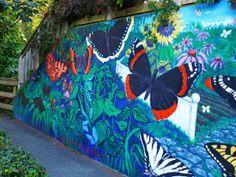 Mural by Amarah Gabriel, Ganges, Salt Spring Island North West, Gabriel, Islands, Salt, Spaces, Spring, Painting, Travel, Archangel Gabriel