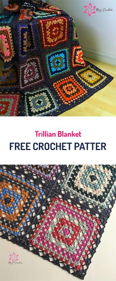 Trillian Blanket Free Crochet Pattern #crochet #diy #homedecor #homemade #crafts