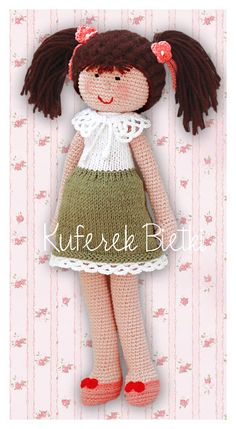 Trunk Bietki: Lychnis - a doll made of crochet / Lychnis, Gehäkelte Puppe / Lychnis - hand crocheted doll