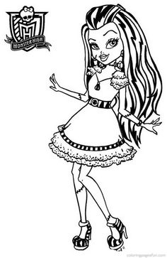 Monster High Coloring Pages 19