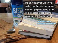 Avec le temps, les livres se salissent, jaunissent et prennent la poussière. Heureusement, une amie bibliothécaire m'a confié son truc tout simple pour rafraîchir les livres sans les abîmer.  Découvrez l'astuce ici : http://www.comment-economiser.fr/astuce-pour-rafraichir-livres-sales.html?utm_content=buffer2d8c4&utm_medium=social&utm_source=pinterest.com&utm_campaign=buffer