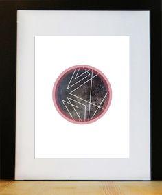 Affiche géométrique Affiche scandinave par FidelesCompagnons