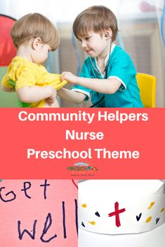 Community Helpers Nurse Page! Nurses are trained men or women who help us stay healthy. This theme page is filled with preschool activities and ideas for all areas of your classroom.
