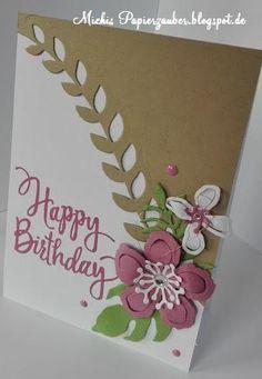 Karte zum Geburtstag Stampin'UP Stylized Birthday Framelist Pflanzen Potpourri