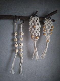 MAKRAMA Breloczek - różne wzory - natunaturally - Breloczki do torebek