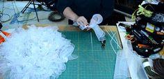 How to make a Deco Mesh Snowman Wreath