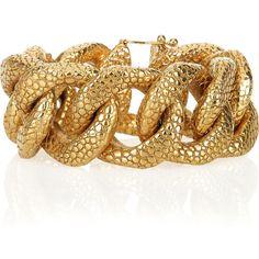 fcdb48f2280 Yves Saint Laurent Gold-plated stingray-effect chain bracelet found on  Polyvore Jewelry Bracelets