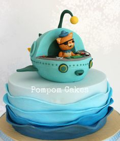 A birthday cake for my nephew's 4th birthday. Kwazii is his favourite character, so here he is in the Gup-A.