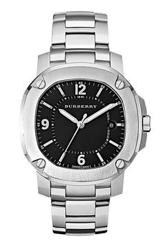 I love chunky men's watches...this one especially  Burberry The Britain Bracelet Watch available at #Nordstrom