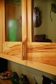 Probably my main cabinets. The glass-fronted Greene & Greene will ...