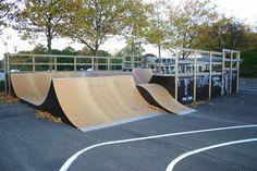 Glostrup Skatepark · Skatepark København · Stadionvej 80, Glostrup · Skateland Construction har bygget ramperne til Glostrup skatepark · Find Vej