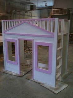 DIY Loft Bed/Playhouse for the kids  Obviously we'd have to man it up for the little man.  Maybe I could find a way to make it Avengers themed??