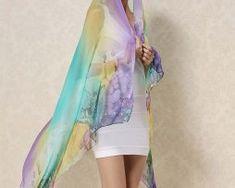 Veľký elegantný šál zo 100% hodvábu v dúhových farbách1 Cover Up, Dresses, Fashion, Gowns, Moda, La Mode, Dress, Fasion, Day Dresses