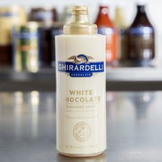 Caramel,chocolate, or white chocolate Flavoring Sauce Topping White Chocolate Sauce, White Chocolate Mocha, White Mocha, Chocolate Flavors, Mocha Recipe, Ghirardelli Chocolate, Frozen Cocktails, My Dessert, Frappe