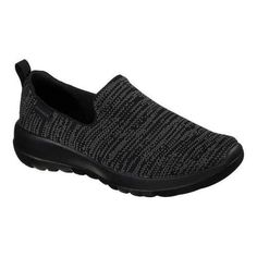 Women's Skechers GOwalk Joy Slip-On Walking Shoe Black/Gray (US Women's 7 M  (Regular)), Grey
