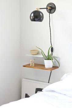 mesita de noche para espacios minimalistas