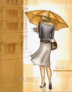 Rain Milano - counted cross stitch pattern in PDF format