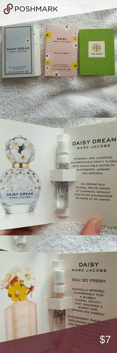 Perfume Samples Daisy & Daisy Dream by Marc Jacobs Tory Burch Brand new. Never used Sephora Makeup