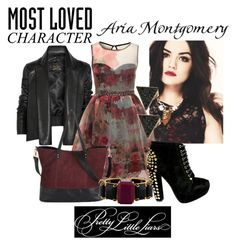 Aria Montgomery- Most loved character by capamericagirl21 on Polyvore featuring Little Mistress, Vivienne Westwood Anglomania, Bounkit, Michael Kors and bookstyle