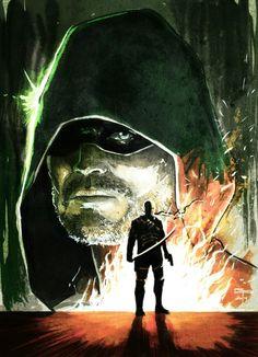 Green Arrow and Deathstroke by Germán Peralta #Arrow #deathstroke #SuperheroesMuseum