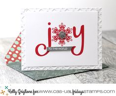 This is my favorite set of the release. Love the two large sentiments in the new CASual Fridays Stamps Joy set, and today I. Christmas Settings, Christmas Tag, Winter Christmas, Snowflake Images, Die Cut Cards, Scrapbook Designs, Merry And Bright, Tag Art, Clear Stamps