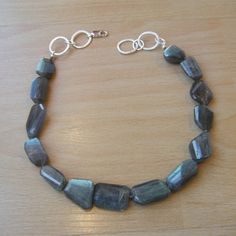 CHUNKY labradorite necklace! must have