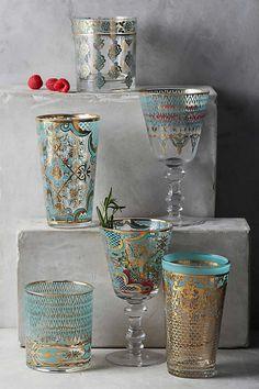 copos e taças estamp