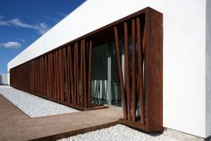 Image 11 of 12 from gallery of Dance School in Lliria / hidalgomora arquitectura. Photograph by Diego Opazo Image 11 of 12 from gallery of. Minimal Architecture, Facade Architecture, Amazing Architecture, Contemporary Architecture, Design Exterior, Facade Design, House Design, Building Exterior, Building Design