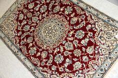 ペルシャじゅうたんナイン玄関マット綺麗な赤色55061、ペルシャじゅうたんオンライン販売