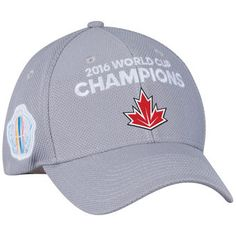 low priced 3718a ef774 Canada Hockey adidas Gray World Cup of Hockey 2016 Champions Structured  Adjustable Hat